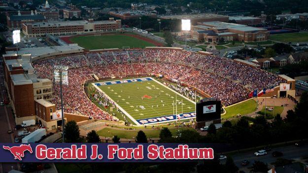 Gerald J Ford Stadium Go Mustangs With Images Stadium