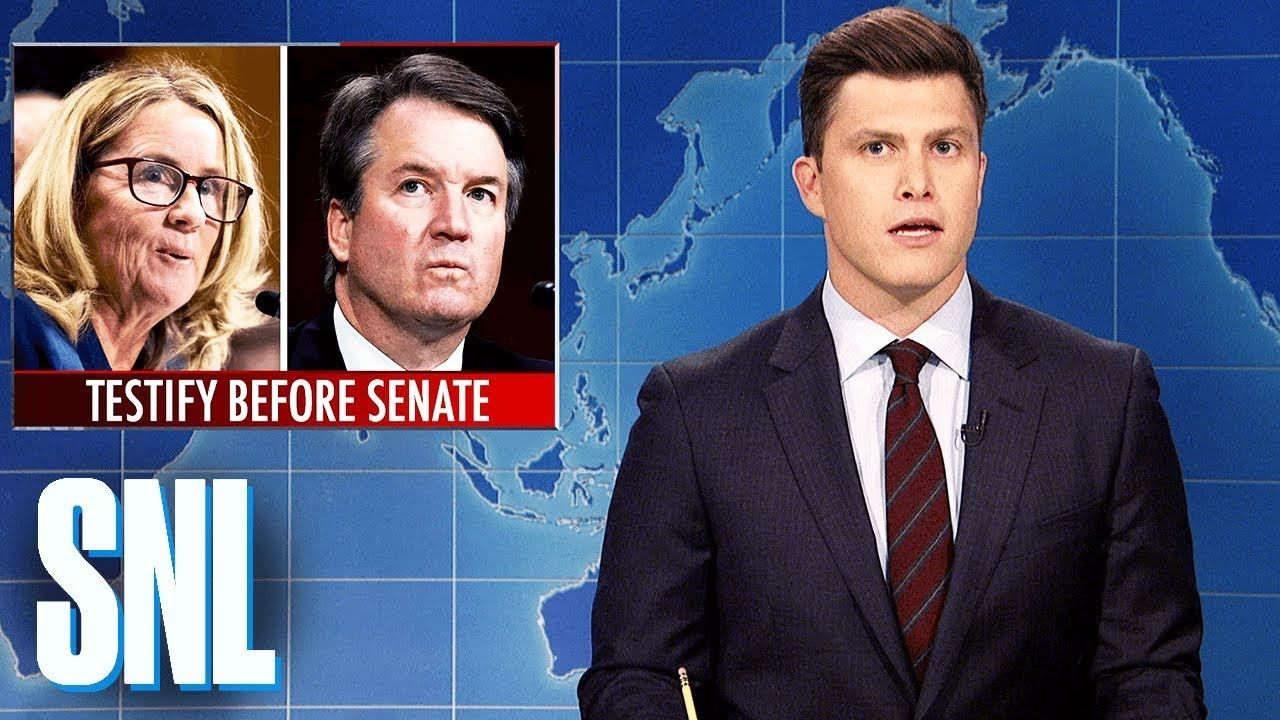 Weekend Update Brett Kavanaugh And Dr Ford Testify Snl Michael Che Of Saturday Night Live Wants To Know Why Judge Weekend Update Michael Che Snl Youtube