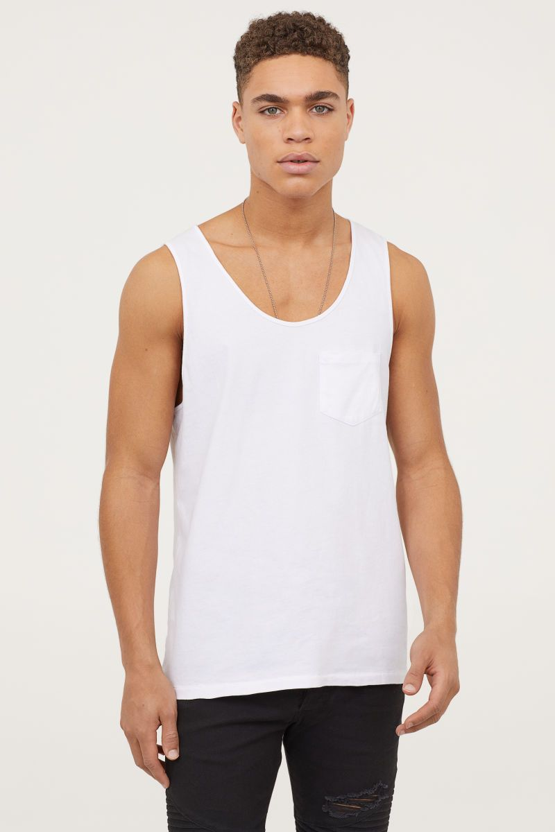 ee9061c2e03de4 Tank Top with Chest Pocket