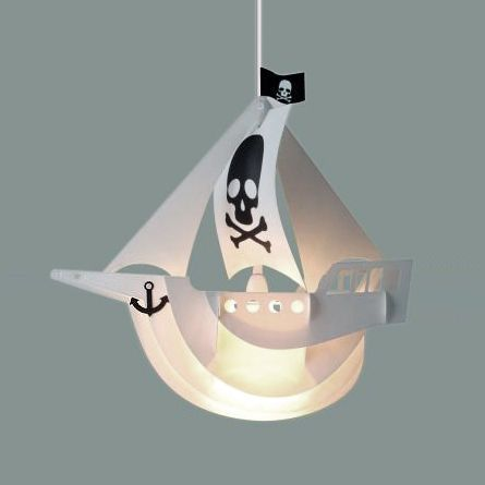 Boys Childrens Bedroom Pirate Ship Boat Ceiling Pendant Light Lamp Shade Lights Boys Bedroom Light Pendant Light Shades Ceiling Pendant Lights
