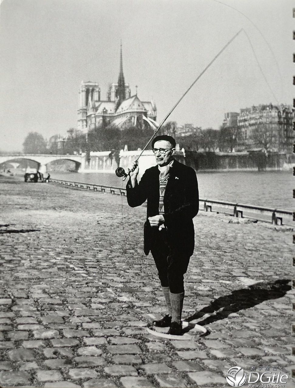 Robert Doisneau. 1951. A Fisherman. Paris.