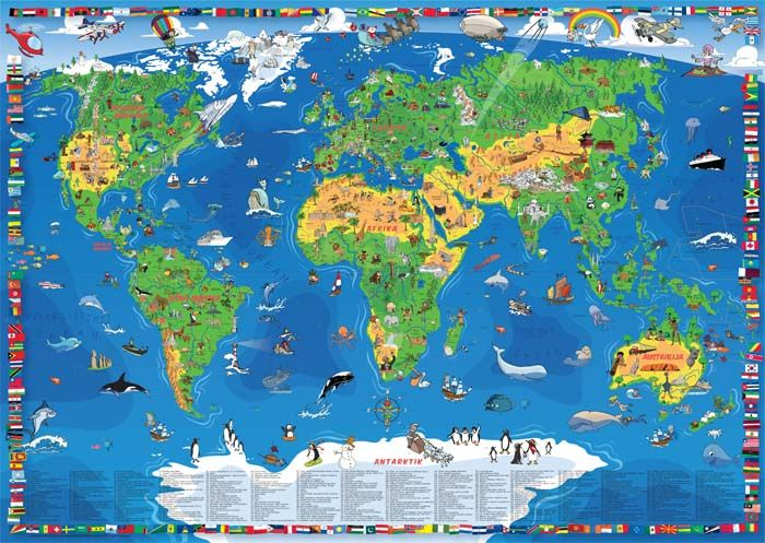 Decija Karta Sveta Nova Kartorafija Doo Kids World Map Maps