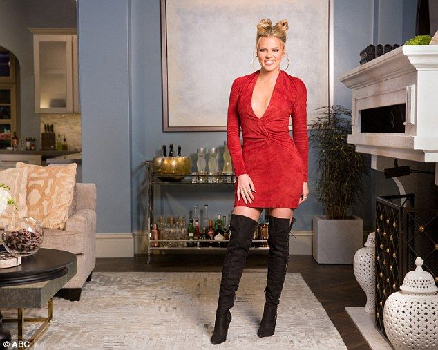 Prepared: The reality star is often seen with cleavage-revealing garments, where she most likely uses pasties to prevent accidental exposure. She is pictured on set of Kocktails With Khloe