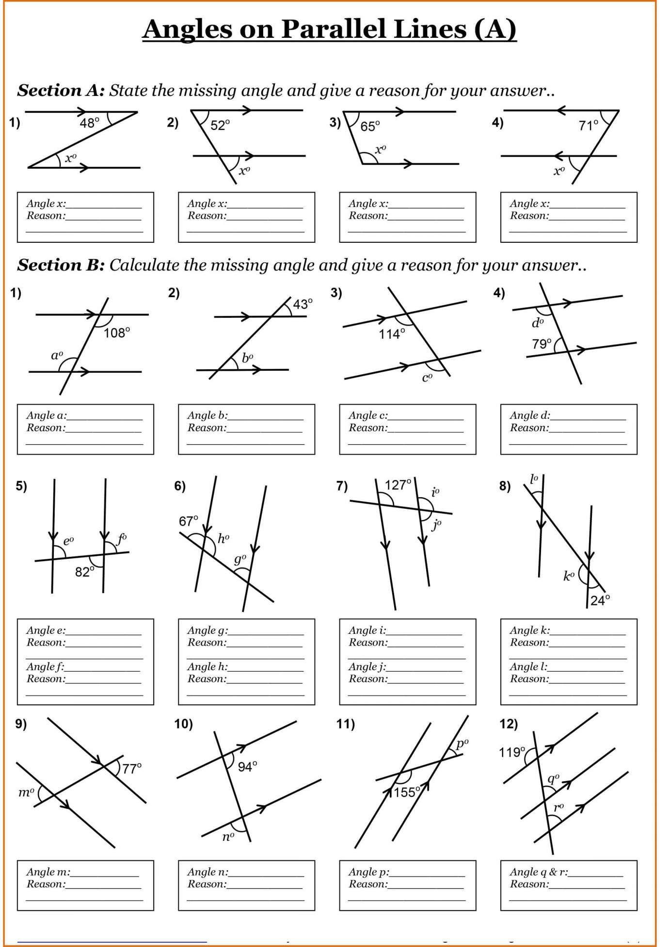 Reading Angles Worksheet Ks2 And Kindergarten Action