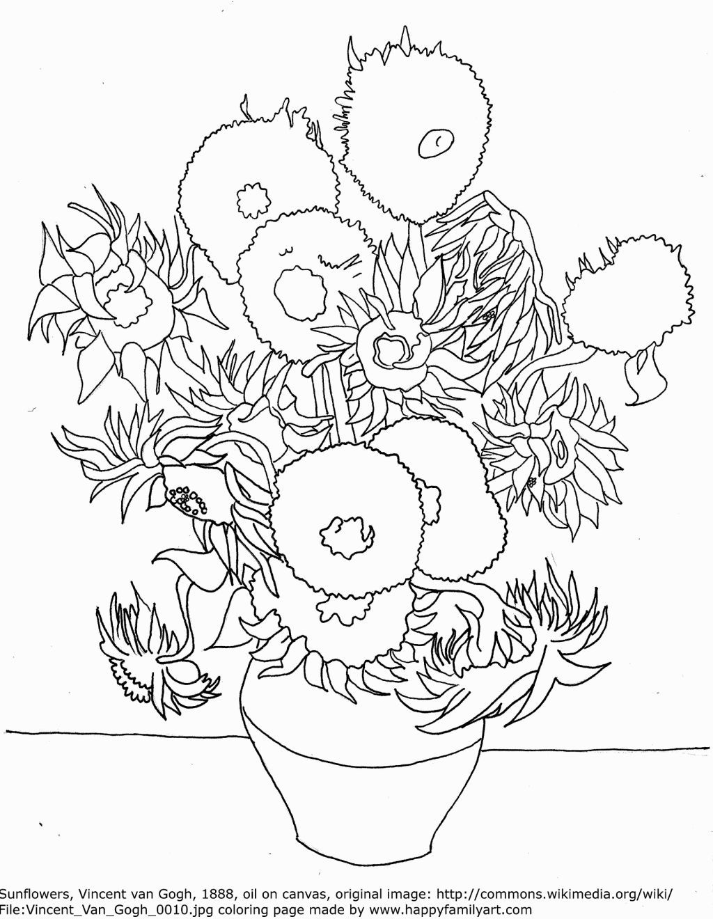 Famous Painting Coloring Pages With Images Van Gogh Coloring