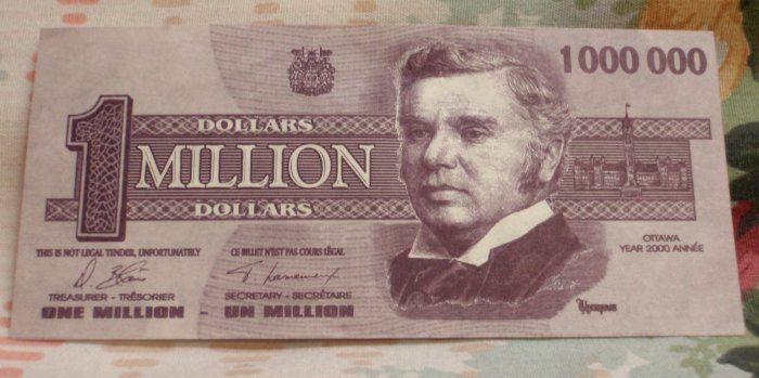 1 Million Dollar Bill Details About 1 000 000 00 Million