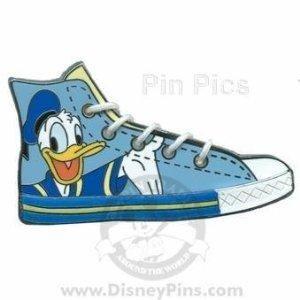 Disney Pins Character Sneaker Donald Duck On Hi Top