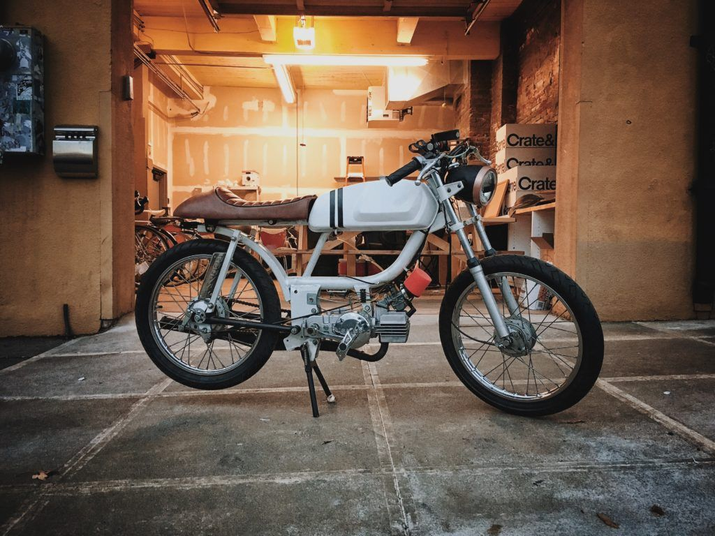 White Lightning General 5 Star With Sachs 505 Vintage Moped