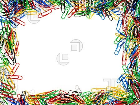 -Picture of Paper clips of different colors
