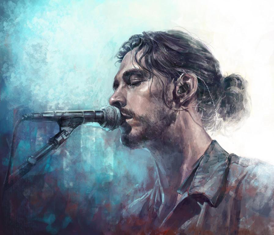 Hozier illustration... so maybe, just maybe, I'm a fan ...