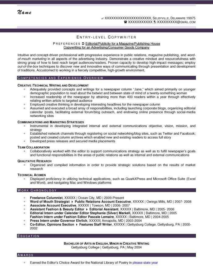 EntryLevel Resume Samples Entry level resume, Resume