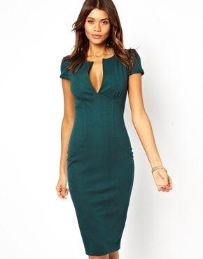 de65a18f7f8b Asos Sexy Pencil Dress - green cocktail dress