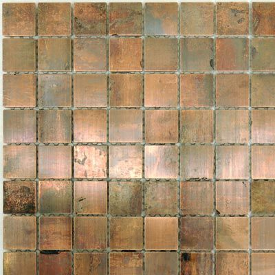 Copper Tile For An Accent Strip In The Backsplash Copper Tiles Copper Backsplash Backsplash