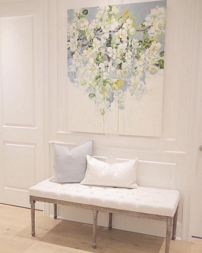 wall paneling paint color benjamin moore simply white oc 17 sonja instagram jshomedesign. Black Bedroom Furniture Sets. Home Design Ideas