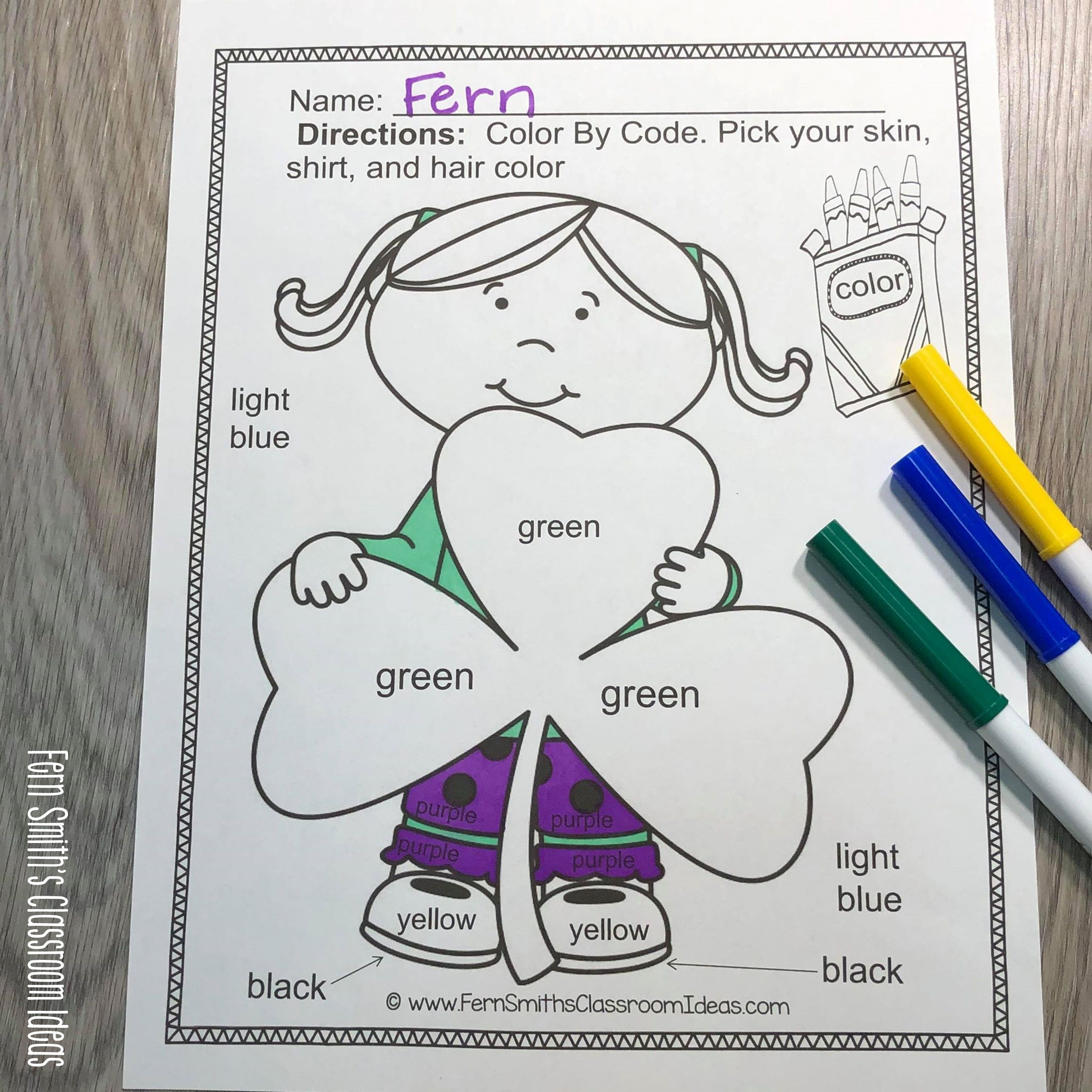 St Patrick S Day Color By Code Know Your Colors And Know
