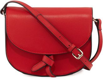 Kc Jagger Adriana Leather Knotted Saddle Bag Handbags