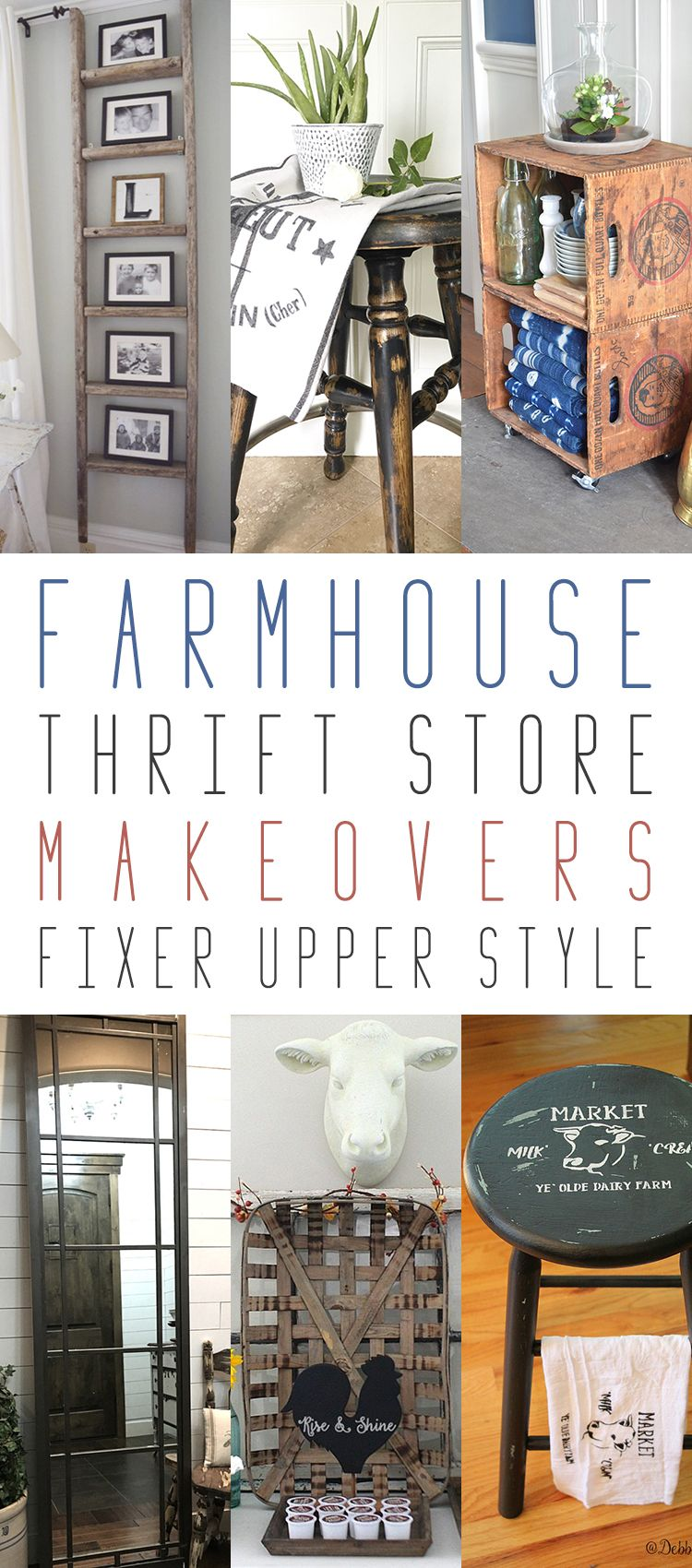 10 farmhouse thrift store makeovers fixer upper style. Black Bedroom Furniture Sets. Home Design Ideas