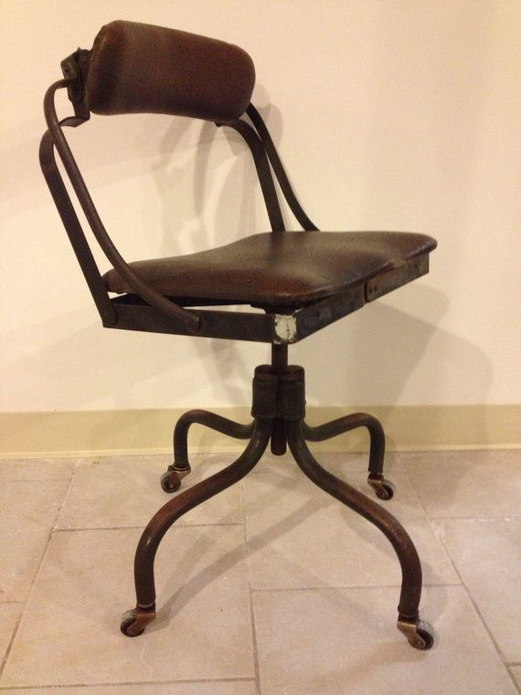 American Vintage Fritz Cross Machine Age Steampunk Adjule Posture Chair Factory Office