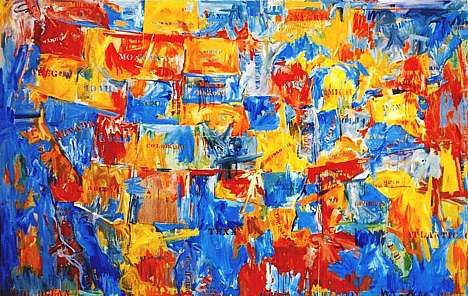Jasper Johns, Map (1961), MoMA