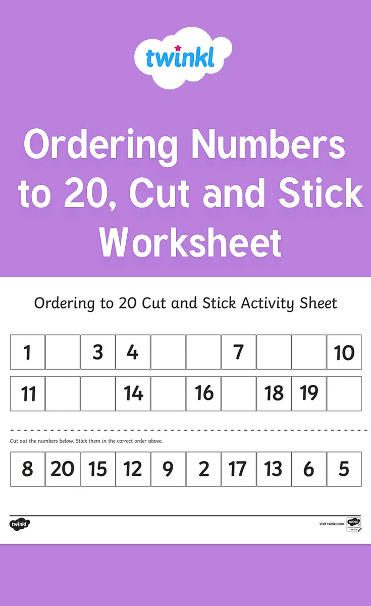 This handy ordering numbers worksheet gives your children the ...
