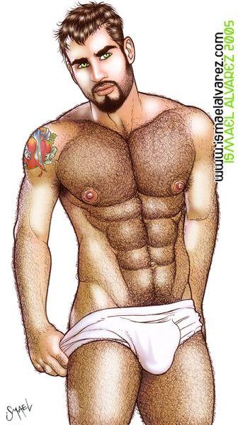 hairy gay men cartoons Shirtless