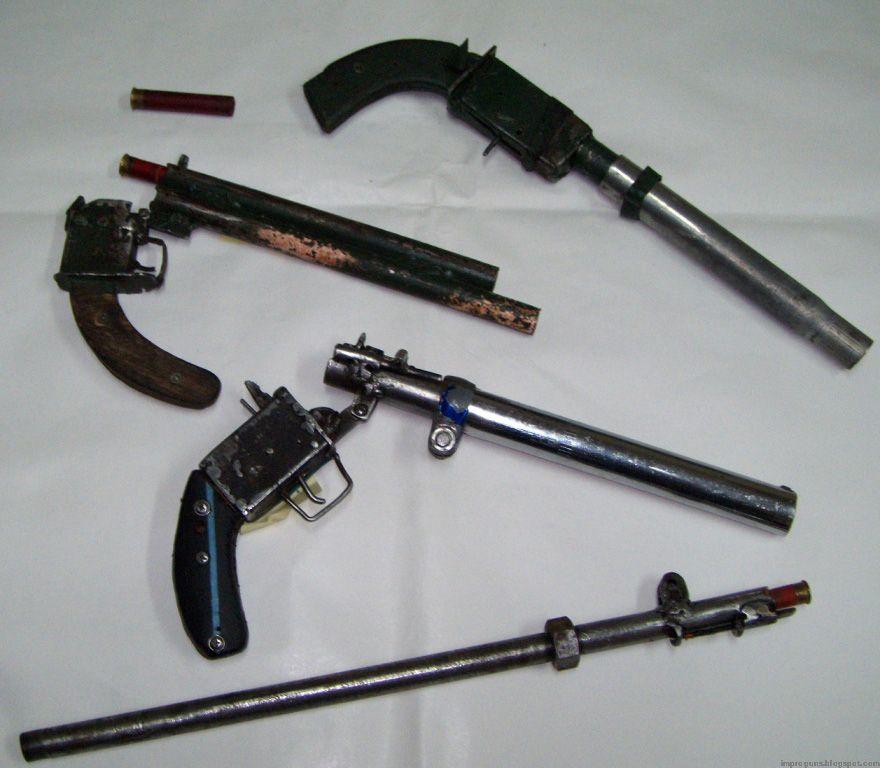 Zip guns seized in Italy | A Home made Gun | Armas