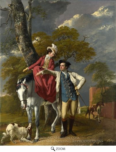 Painting Reproduction of Mr. and Mrs. Thomas Coltman, Joseph Wright of Derby