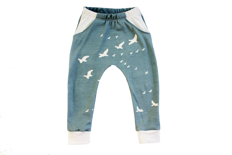 Organic Pocket Harems, comfortable, slight drop crotch pants by HugmeSew on Etsy