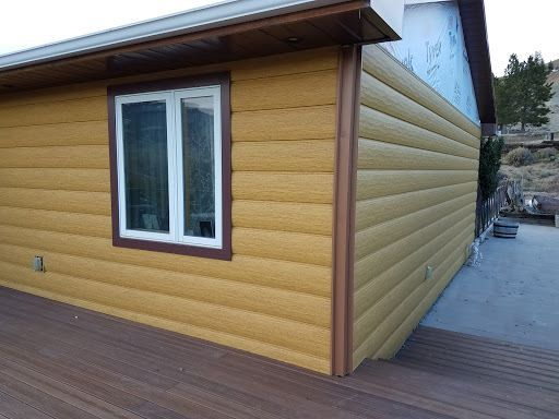 New Premium Colorado Pine Steel Log Siding Maintenance Free Log Siding Log Siding House Siding Siding