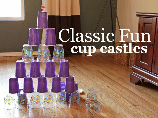 castillo de vasos