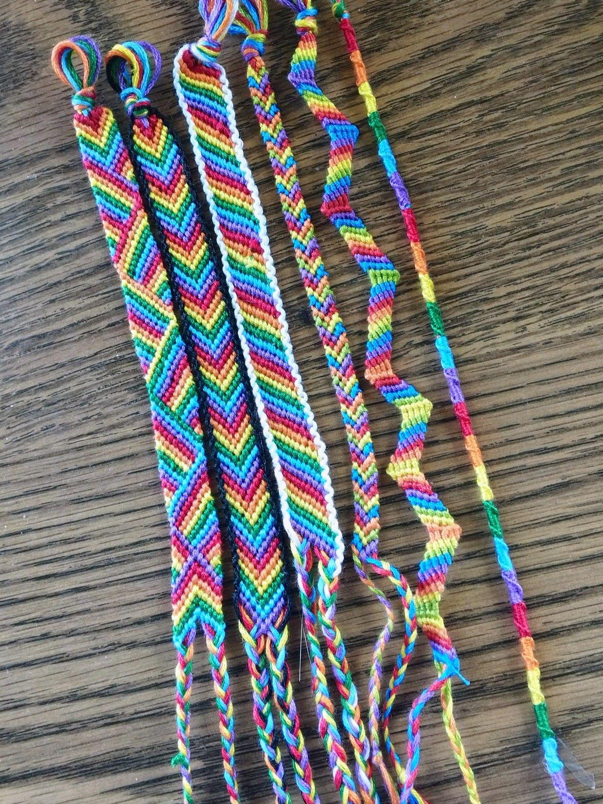Rainbow Friendship Bracelets Friendship Bracelets Designs