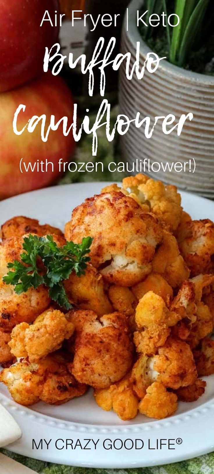 These keto Air Fryer Buffalo Cauliflower Bites are easy to
