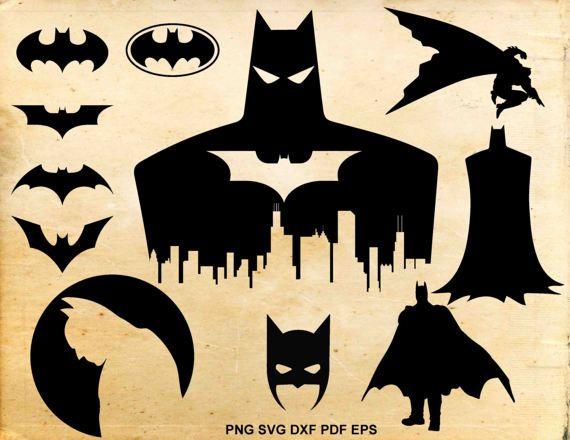 Batman svg file Batman clipart Batman silhouette Batman