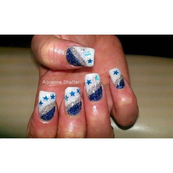 Dallas Cowboy Nails Nail Art Gallery Liked On Polyvore Featuring