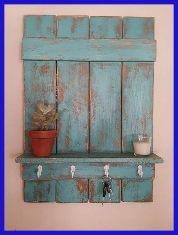 Rustic Entryway Shelf With Hooks Bathroom Shelf Coat Hanger Key Hanger Handmade Distr How To Distress Wood Shabby Chic Bathroom Decor Chic Bathroom Decor