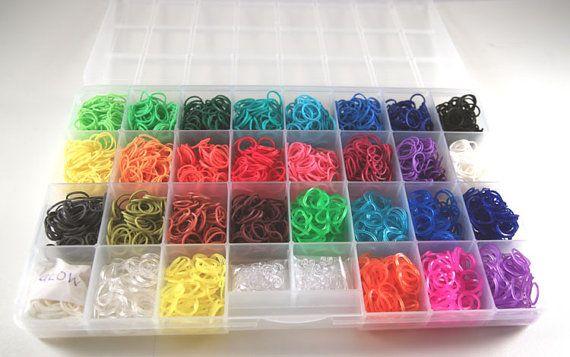 Rainbow Loom Refill Kit Organizer All 30 Colors 3000