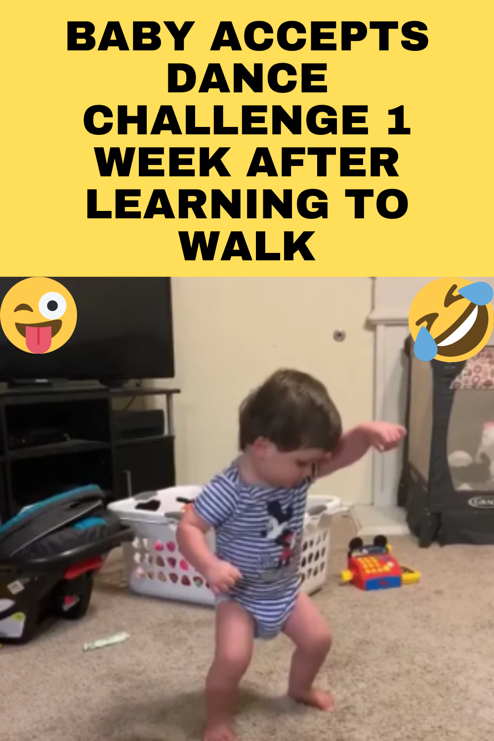 Baby Accepts Dance Challenge 1 Week After Learning To Walk