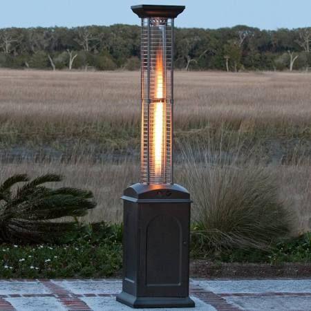 Fire Sense Mocha Glass Tube Patio Heater 60804 Aussenlampe Terrassenbeleuchtung Terassenideen