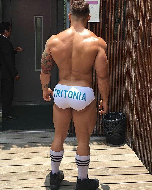 Kamuon Men's Sexy Bulge Pouch Thongs Underwear Undies Showing Off Bubble Butt