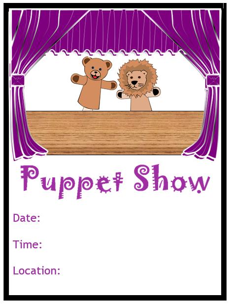 puppet show flyer template template pinterest puppets flyer