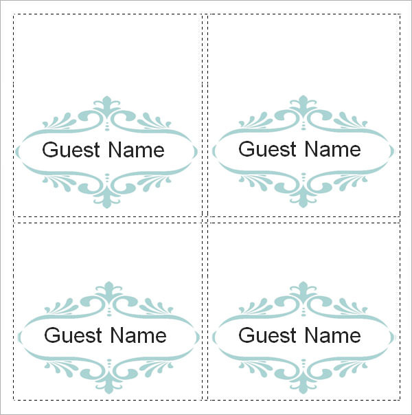 Free 7 Place Card Templates In Ms Word Pdf Pertaining To Professional Place Car In 2021 Free Place Card Template Printable Place Cards Templates Place Card Template