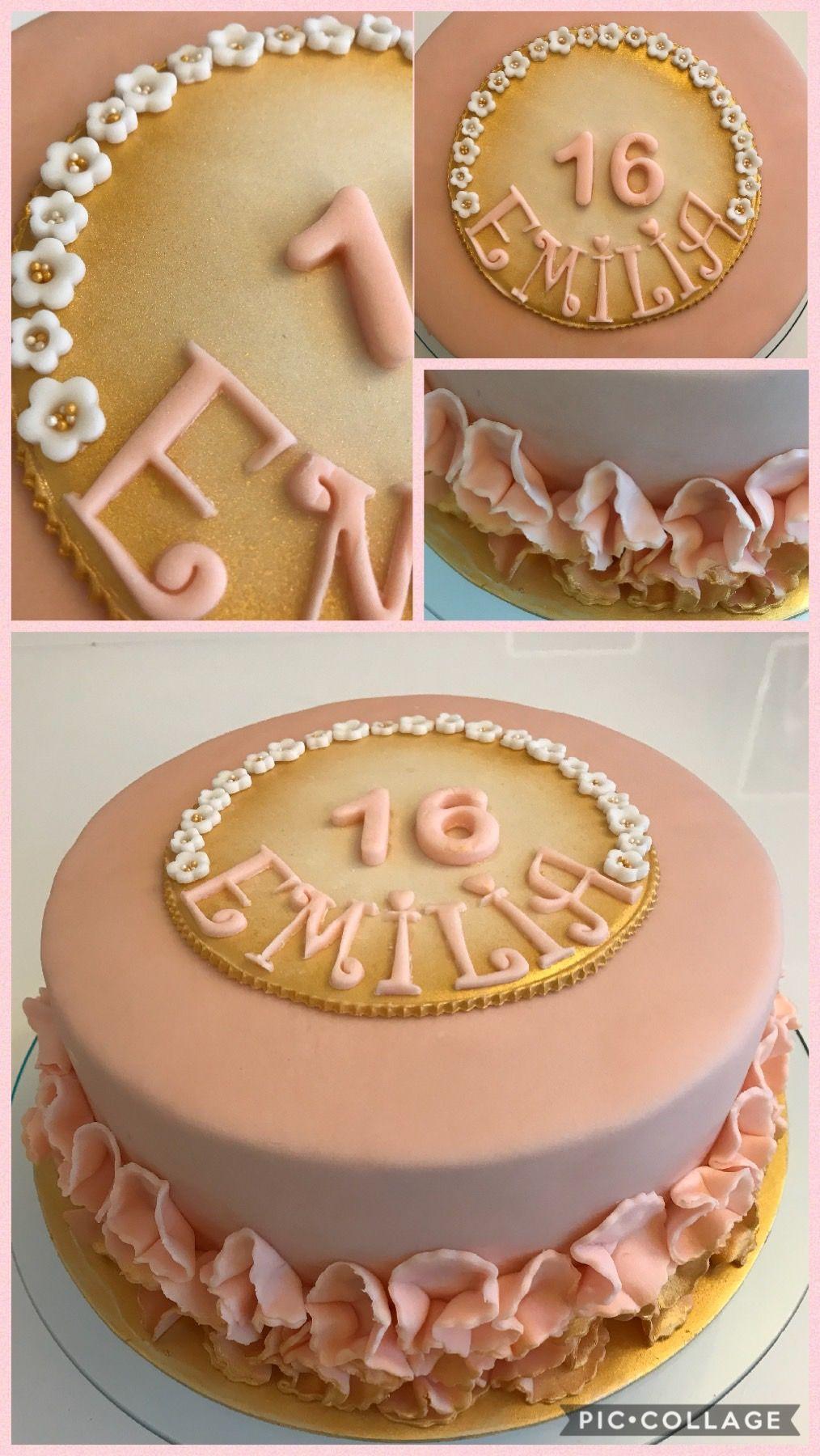 Birthdaycake Fondant Cake 16thanniversarycake Girl 16