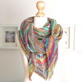 Buntes Tuch mit Streifen Seidenanteil Gestreift Sommer Schal