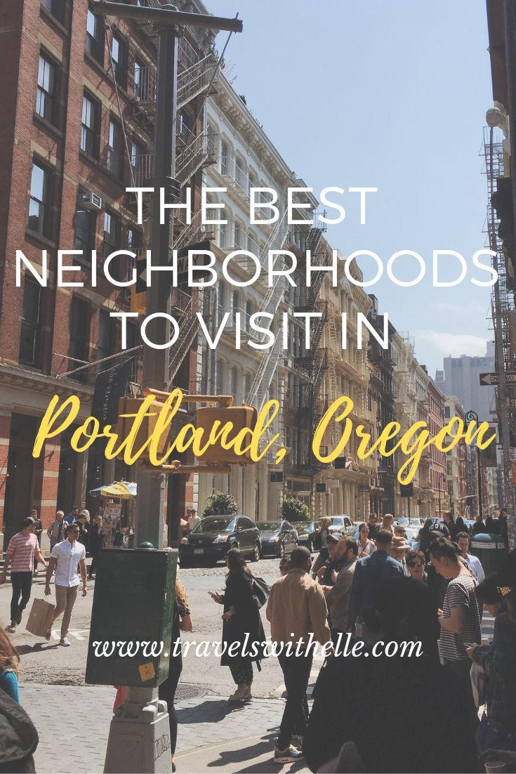 The Best Neighborhoods To Visit In Portland, Oregon - www.travelswithelle.com Each Portland neighborhood has its quirks and charms. Wondering where to visit? I've chosen four of the best Portland neighborhoods that will satisfy first-timers and return visitors alike. #oregontravel