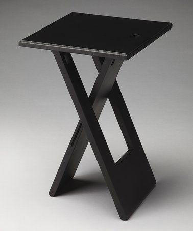 Loving This Black Folding Side Table On #zulily! #zulilyfinds