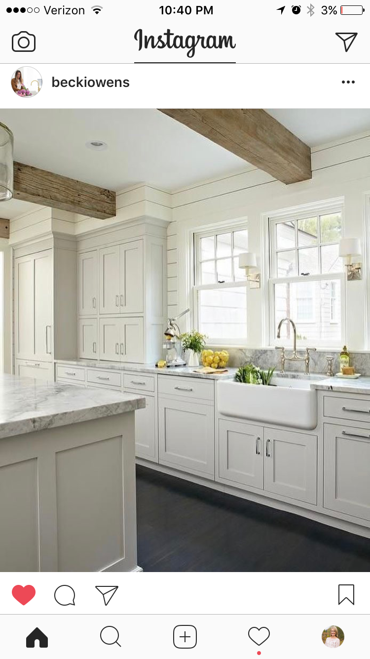 Shiplap Above The Cabinets Kitchen Design Rustic Kitchen Cabinets White Kitchen Design