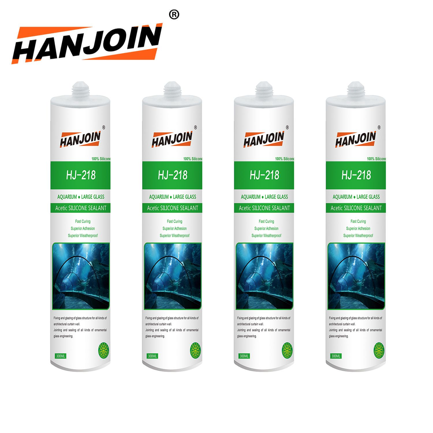 Acetic Aquarium Structural Silicone Sealant Hj218 Cartridge 300ml Sealant Aquarium Silicone Fish Tank