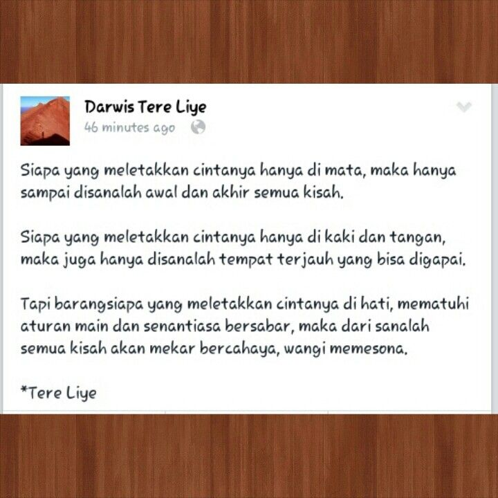 Quotes Indonesia Cinta Tere Liye Quotes Indonesia Cinta Quotes