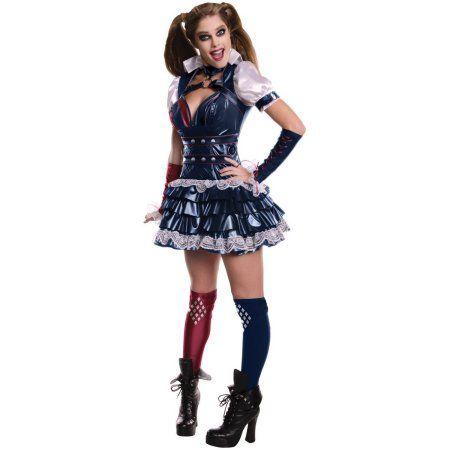 Secret Wishes Harley Quinn Adult Fancy Dress Costume SIZE