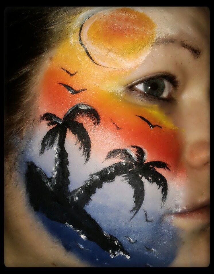 Sunset Face Paint Face Painting Face Painting